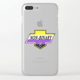 Identity Stamp: Non Binary Clear iPhone Case