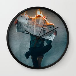 The World on Fire (Color) Wall Clock