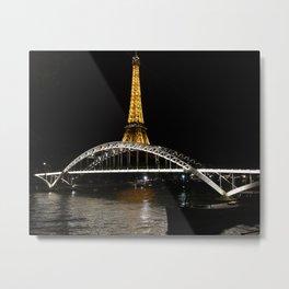 Eiffel Tower At Night 7 Metal Print
