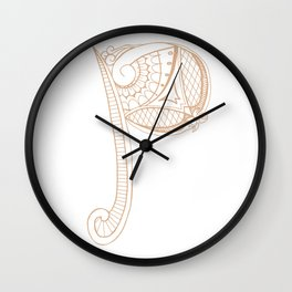 Fancy P Wall Clock