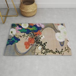 Chrysanthemum and Flowing water - Digital Remastered Edition Rug