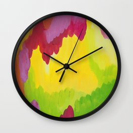 fall colors abstract nature joyful Wall Clock