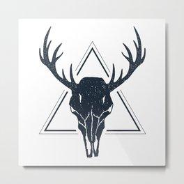 Skull Of A Deer. Geometric Style Metal Print