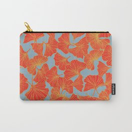 Tumbling Ginkgo Red Carry-All Pouch