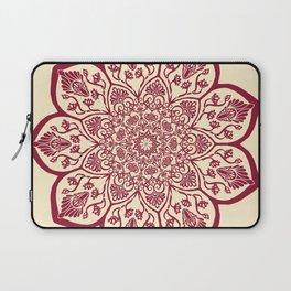 Burgundy & Cream Mandala Laptop Sleeve