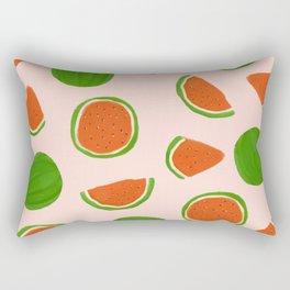 Summer fruit on pink Rectangular Pillow