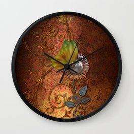 Steampunk butterfly Wall Clock
