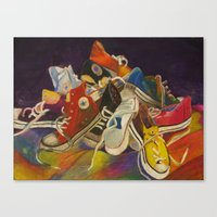 sneakers Canvas Prints featuring Sneakers by Jocelyn Mendoza