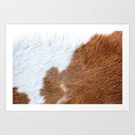 Cow Hide Print Pattern Art Print