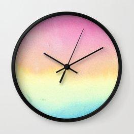 Pansexual Watercolor Wash Wall Clock