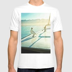 Southern Ave. White Mens Fitted Tee MEDIUM