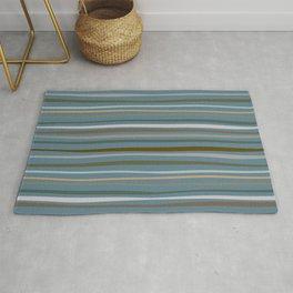 Blueprint and Stripes 1 Rug
