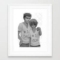 hunter x hunter Framed Art Prints featuring Hunter x Hunter: #1 Parents by akayashi