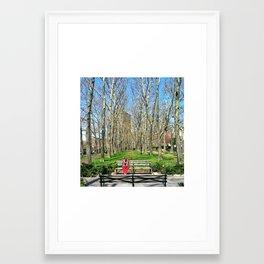 BENCH PLAYER Framed Art Print