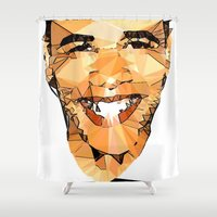 obama Shower Curtains featuring ICONS: Obama by LeeandPeoples