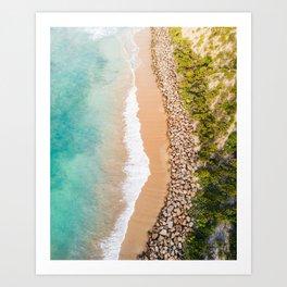 Ocean and Rocks Art Print