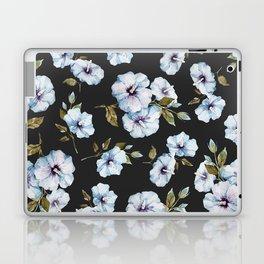 BLUE FLOWERS WATERCOLOR Laptop & iPad Skin
