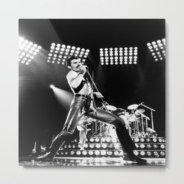 FreddieMercury at concert Poster Metal Print