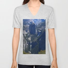 Vernal Falls And Nevada Falls Unisex V-Neck