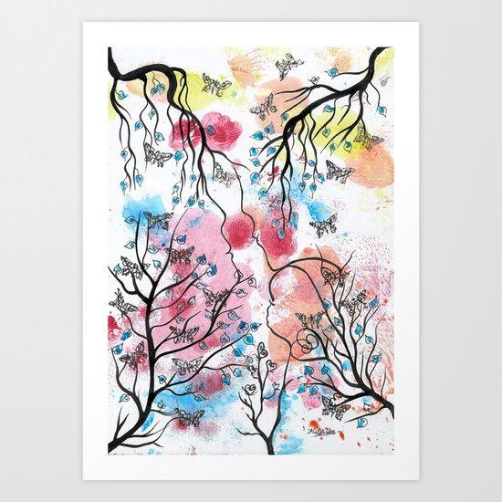 LOVE HAPPENS Art Print