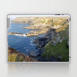 Godrevy Beach. Seal lookout. Coast Path, Hayle, Cornwall Laptop & iPad Skin