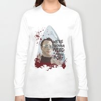 jaws Long Sleeve T-shirts featuring Jaws by Colo Design