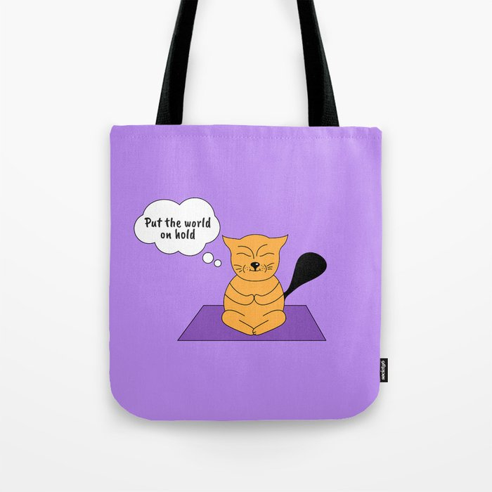 Beatrice. The cat that thinks... Yoga Tote Bag