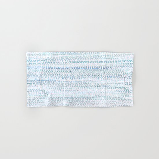 BLUE/GREEN DOTTED PATTERN  Hand & Bath Towel