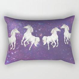 Unicorn in a starry sky Rectangular Pillow