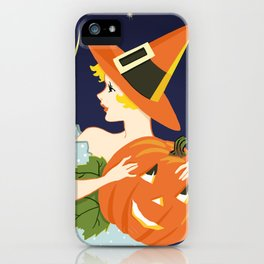 Vintage Halloween Costume Party Pumpkin Carving iPhone Case