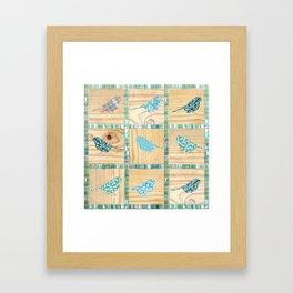 Birds On Parade Framed Art Print