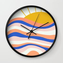 sunrise surf Wall Clock