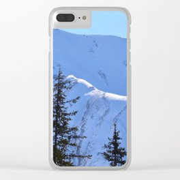 Back-Country Skiing  - V Clear iPhone Case