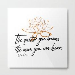 Ram Dass Quote 2 Metal Print