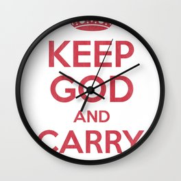 keep God and Carry On - White Book Wall Clock