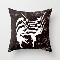 ninja Throw Pillows featuring Ninja by TrueLoveStory