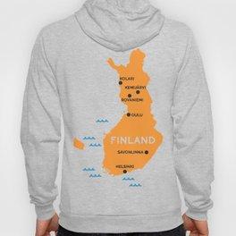 Finland Map Hoody
