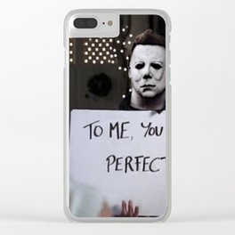 Michael Myers in Love Actually Clear iPhone Case
