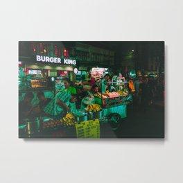 Burger King / Bladerunner Vibes / Bangkok Metal Print