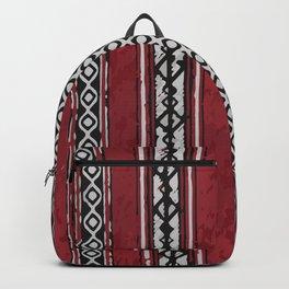 Red Arabian Pattern Backpack