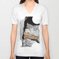 lizard V-neck T-shirts featuring Lizard by Anja Kidrič AdAk