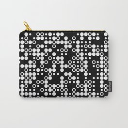 Playful Dots B&W Carry-All Pouch