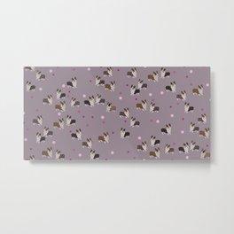 pink dot corgis Metal Print
