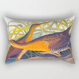 Great Red Breasted Rail John James Audubon Scientific Birds Of America Illustration Rectangular Pillow