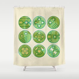 Video Game Controllers Shower Curtain