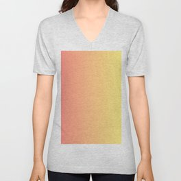 Color gradient 14. red and yellow. abstraction,abstract,minimalism,plain,ombré Unisex V-Neck