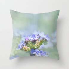 Dreamy Blues Throw Pillow