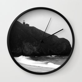 Point Sur Lightstation in Black and White Wall Clock