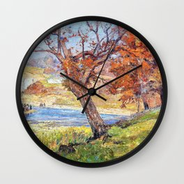 Landscape - Theodore Clement Steele Wall Clock