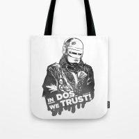 robocop Tote Bags featuring Robocop  by Superdroso